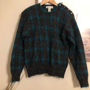 VTG Hand Embroidered Mohair Sweater Jones New York